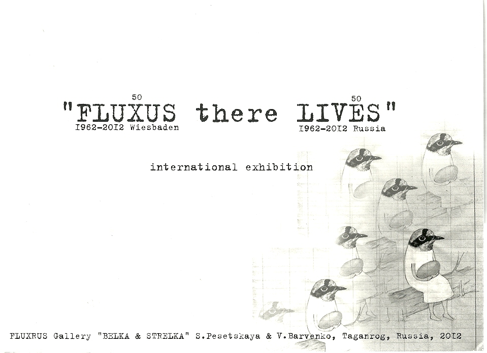 Catalog From The 2012 FluxRus Exhibition Taganrog Russia Organized